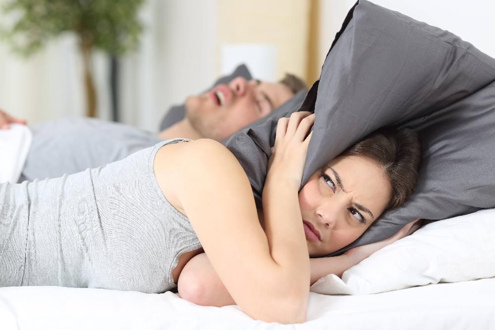 Woman who can't sleep because her husband has sleep apnea near 91405